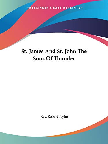9781417995073: St. James And St. John The Sons Of Thunder