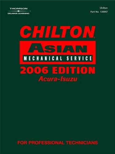 9781418006037: Chilton 2006 Asian Mechanical Service Manual Set of 3 (Chilton Asian Service Manual (V1))