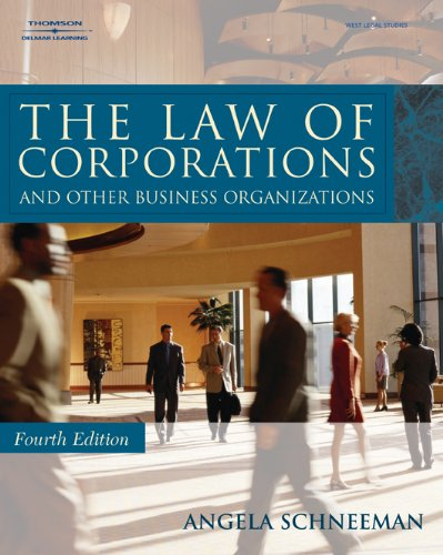 9781418013882: The Law of Corporations and Other Business Organizations