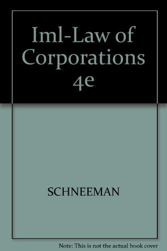 9781418013899: Iml-Law of Corporations 4e