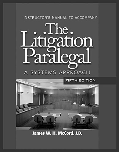 9781418016050: The Litigation Paralegal: A Systems Approach