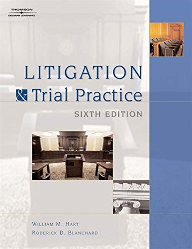 9781418016890: Litigation and Trial Practice