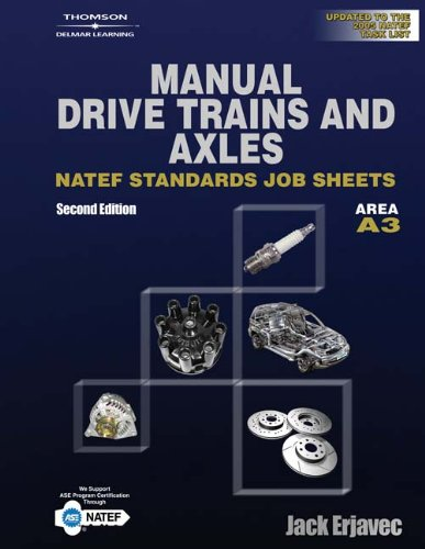 9781418020767: Manual Transmissions NATEF Standard Jobsheets, Area A3, 2nd Edition