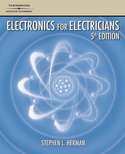 Electronics for Electricians 9781418028732 Electronics for Electricians is written for apprentices and readers preparing for work in industrial settings. Components and circuits are explained in a clear-cut manner throughout the book, with emphasis on describing how they work, what they do, how to use them in a working circuit, and how to test them. With successfully proven laboratory experiments in every chapter, this book exposes readers to the electronic devices commonly found in industry as well as the circuit applications of those devices. In the process, it offers its readers a more practical and relevant path to understanding how electronics theory is applied in the electrical field.