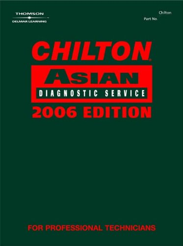 9781418029159: Chilton 2006 Asian Diagnostic Service Manual: v. 3