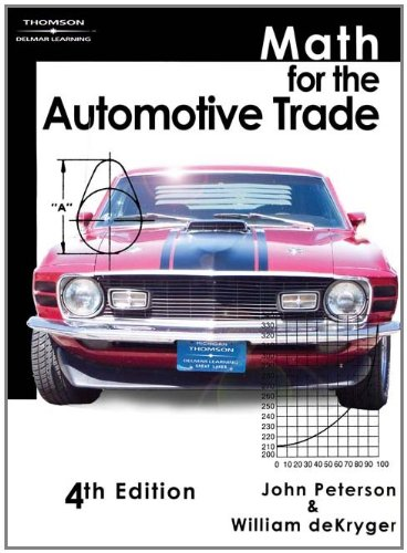 9781418031015: Math for the Automotive Trade (Applied Mathematics)