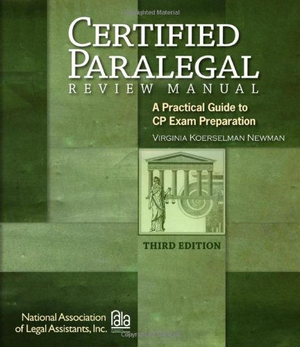 9781418031978: Certified Paralegal Review Manual: A Practical Guide to CP Exam Preparation (Test Preparation)
