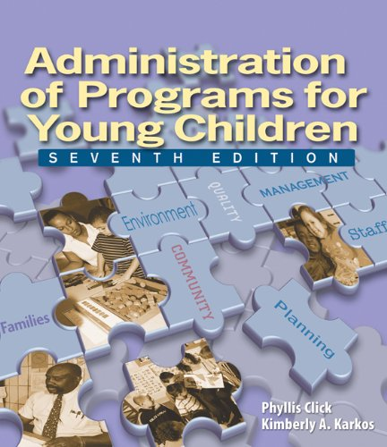 9781418037901: Administration of Programs for Young Children