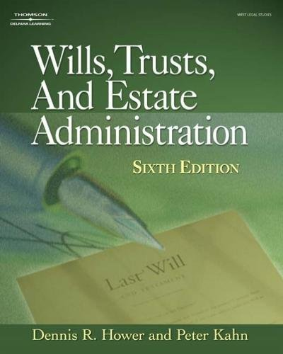 9781418039332: Wills, Trusts and Estate Administration