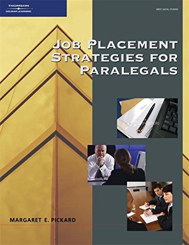 9781418040086: Job Placement Strategies for Paralegals