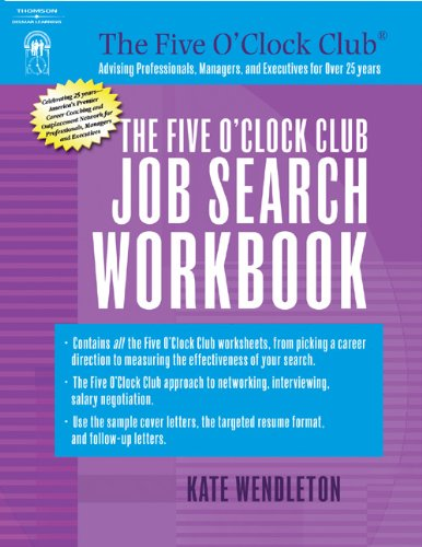 9781418040505: The Five O'Clock Club Job Search Workbook