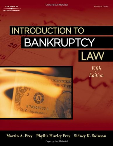 9781418040963: Introduction to Bankruptcy Law
