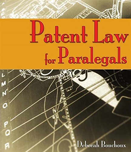 9781418048013: Patent Law for Paralegals
