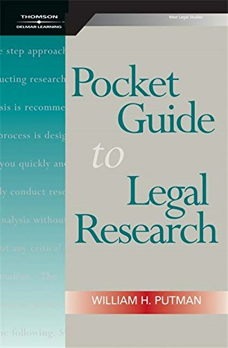9781418053765: Pocket Guide to Legal Research, Spiral bound Version