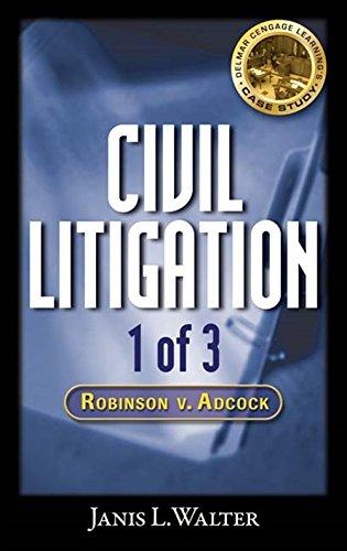 9781418062316: Civil Litigation Case Study #1 CD-ROM: Robinson v. Adcock