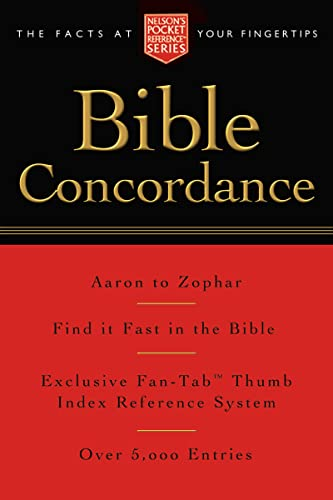 9781418500177: Pocket Bible Concordance: Nelson's Pocket Reference Series