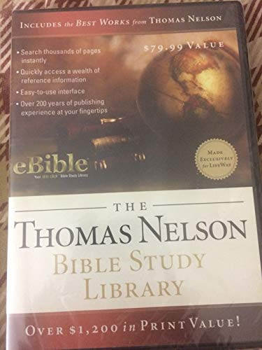 9781418526931: The Thomas Nelson Bible Study Library:eBible