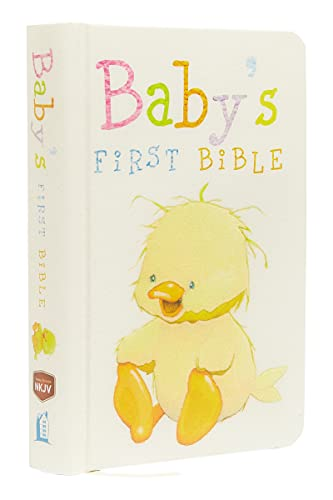 NKJV, Baby's First Bible, Hardcover, White: Holy: Thomas Nelson