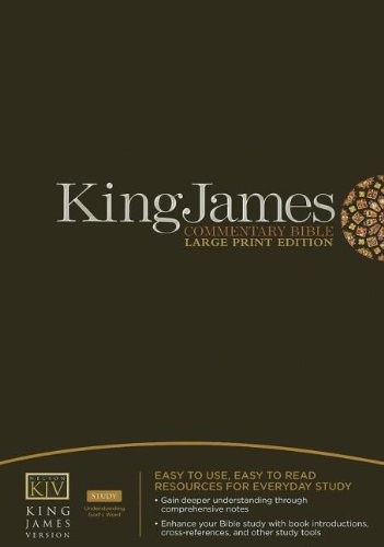 9781418542054: King James Commentary Bible: King James Version, Black Bonded, Study, Red Letter Edition