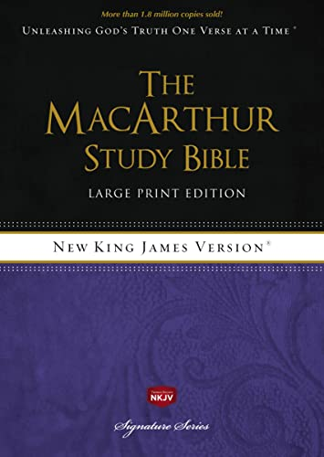 9781418542238: NKJV, The MacArthur Study Bible, Large Print, Hardcover, Indexed