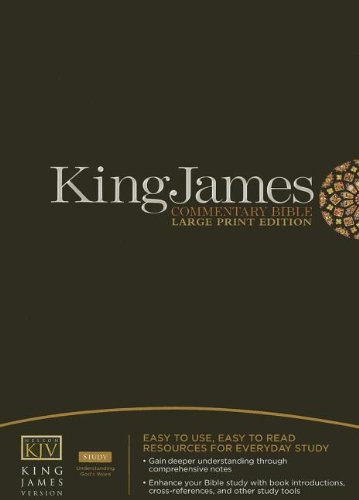 9781418542603: King James Commentary Bible: King James Version, Burgandy, Bonded