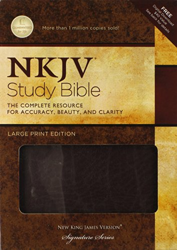 9781418542627: NKJV Study Bible, Large Print, Bonded Leather, Burgundy: Large Print Edition