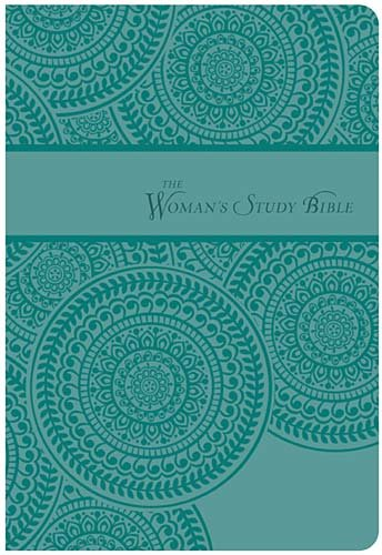 NKJV, Woman's Study Bible, Personal Size, Imitation Leather, Turquoise