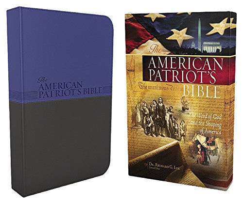9781418546014: The American Patriot's Bible: New King James Version, Patriot Blue/Charcoal, Leathersoft, Study Bible: The Word of God and the Shaping of America (Signature Series)