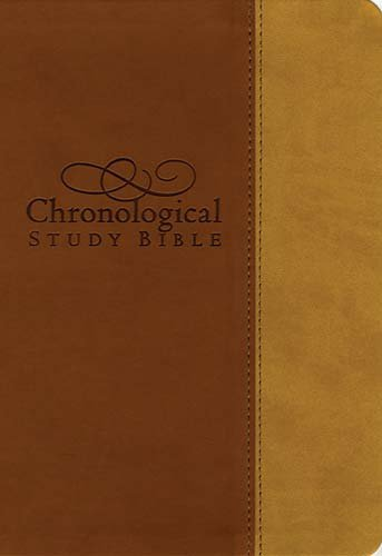 9781418546960: The Chronological Study Bible: New King James Version, Butterscotch/Amber, Leathersoft