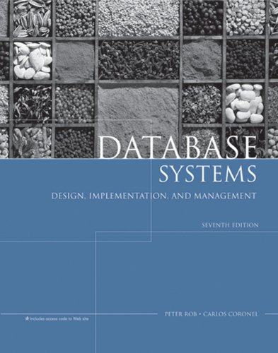 Database Systems: Design, Implementation, and Management: Peter Rob, Carlos