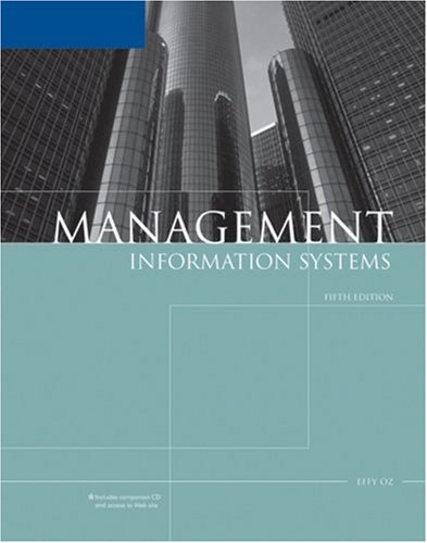 Management Information Systems, Fifth Edition: Effy Oz