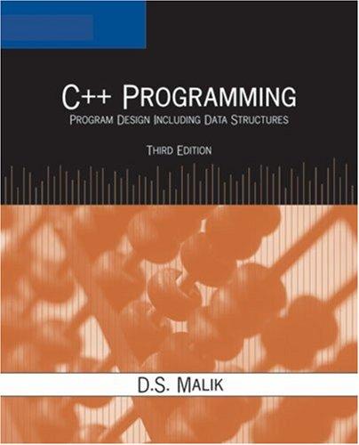 9781418836405: C++ Programming: Program Design Including Data Structures, Third Edition