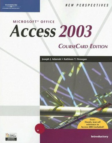 9781418839086: New Perspectives on Microsoft Office Access 2003, Introductory, CourseCard Edition (New Perspectives (Course Technology Paperback))