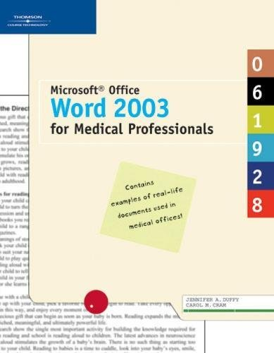 9781418843205: Microsoft Office Word 2003 for Medical Professionals (Illustrated Series)