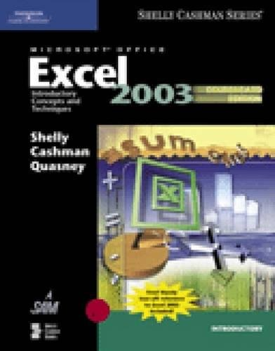 9781418843588: Microsoft Office Excel 2003: Introductory Concepts and Techniques, CourseCard Edition (Shelly Cashman)