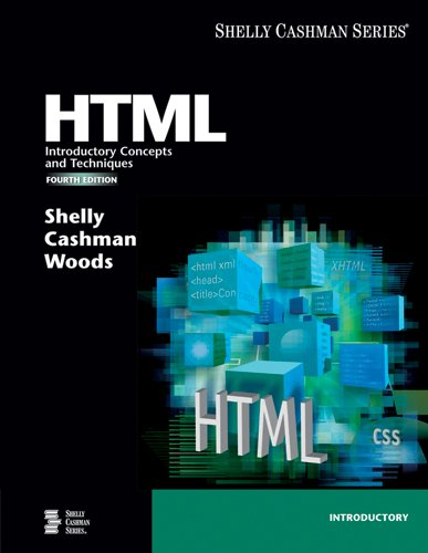 9781418859350: HTML: Introductory Concepts and Techniques, Fourth Edition (Available Titles Skills Assessment Manager (SAM) - Office 2007)