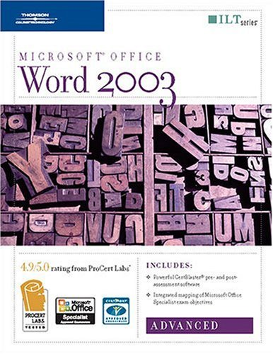 Word 2003: Advanced + CertBlaster (ILT) (141888958X) by Axzo Press