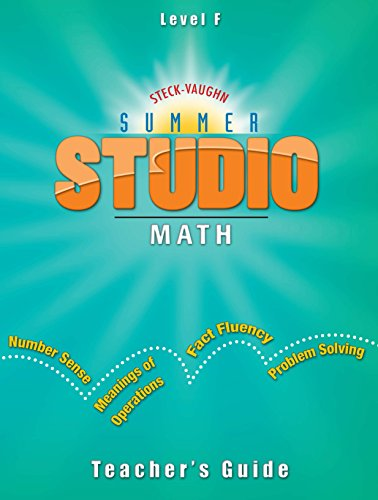 9781419022104: Great Source Summer Studio: Math Workbooks Classroom Package Grade 6 (Level F)