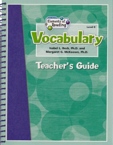 9781419030550: Steck-Vaughn Elements of Reading: Vocabulary: Teacher Guide Grades 5 - 8 2007