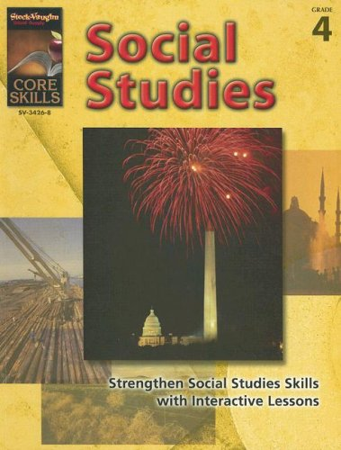 9781419034268: Core Skills: Social Studies: Reproducible Grade 4