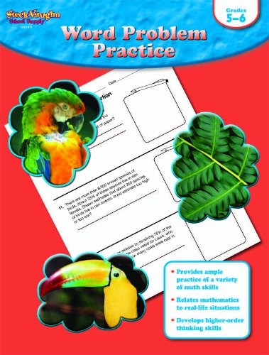 9781419098031: Word Problem Practice: Reproducible Grades 5-6