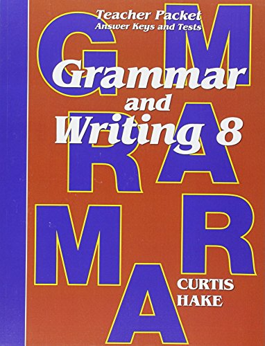 Saxon Grammar and Writing: Teacher Packet Grade: STECK-VAUGHN