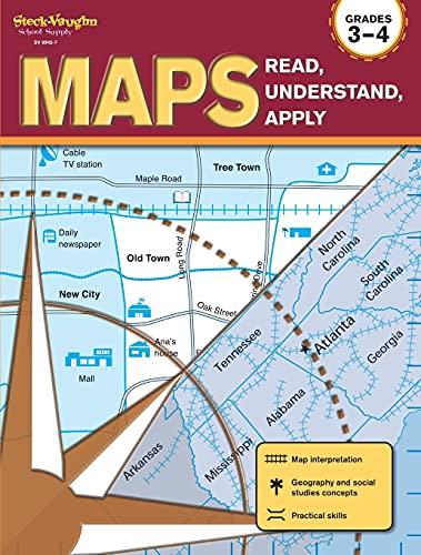 9781419099427: Maps: Read, Understand, Apply: Reproducible Grades 3-4