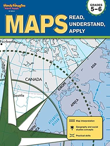 9781419099434: Maps: Read, Understand, Apply: Reproducible Grades 5-6