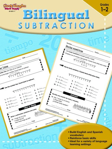 9781419099717: Steck-Vaughn Bilingual: Reproducible Subtraction