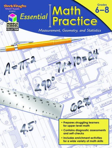 9781419099755: Essential Math Practice: Reproducible Measurement, Geometry, and Statistics