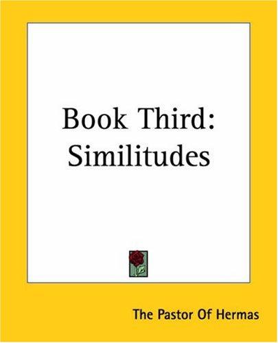 9781419110535: Book Third: Similitudes