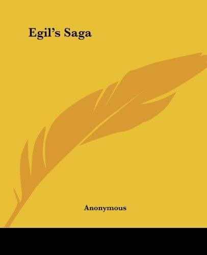9781419117343: Egil's Saga (Kessinger)