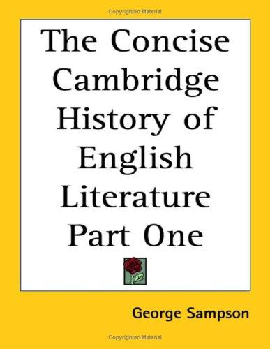 9781419126314: The Concise Cambridge History of English Literature