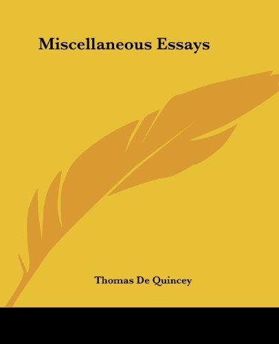 9781419134401: Miscellaneous Essays